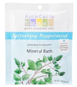 Aura Cacia Refreshing Peppermint Mineral Bath, 2.5oz