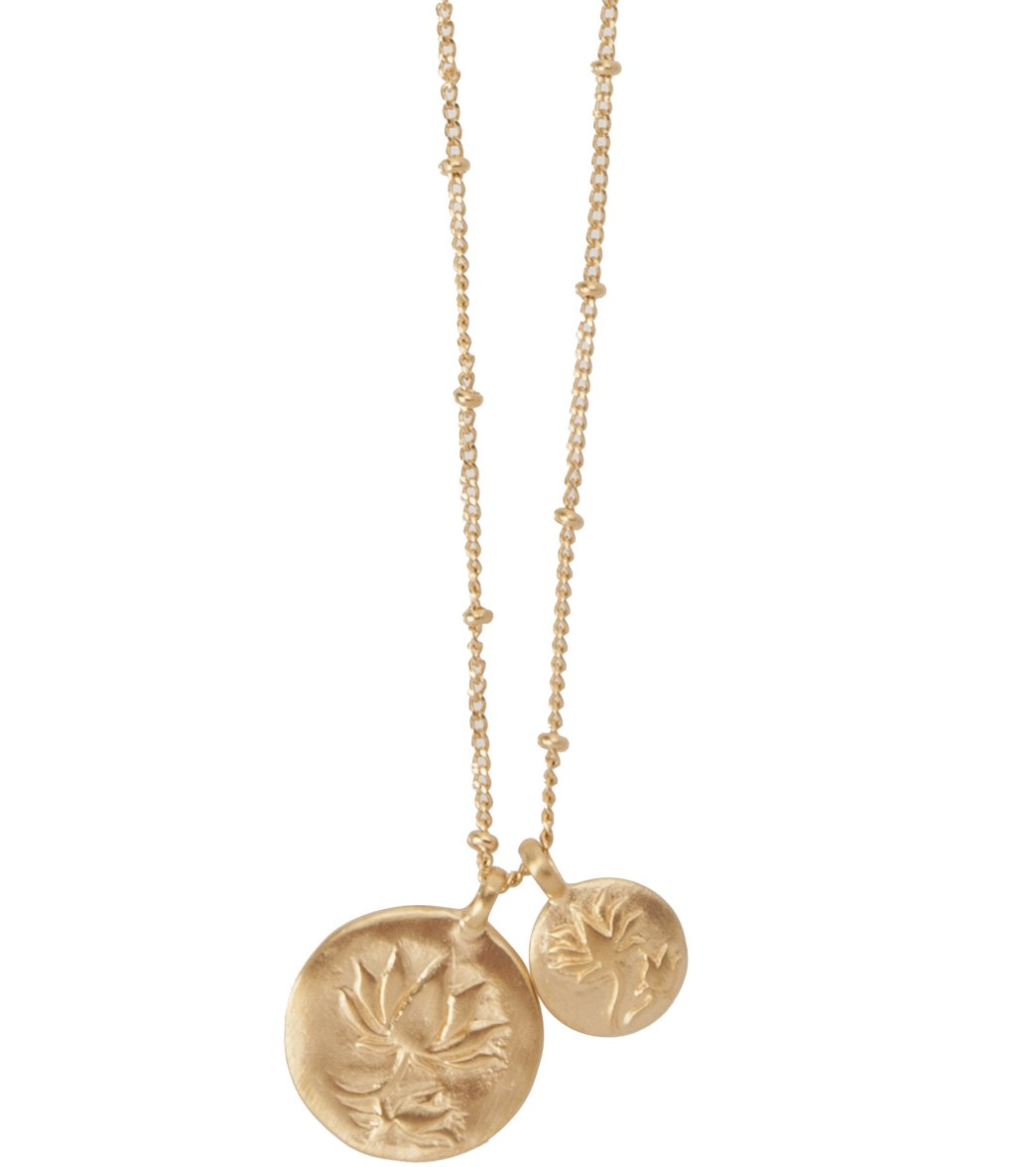 Satya jewelry gold lotus necklace at yogaoutlet free shipping aloadofball Gallery