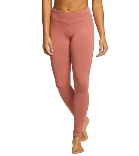 b03cd54b68a6c Hard Tail Flat Waist Cotton Ankle Yoga Leggings at YogaOutlet.com - Free  Shipping