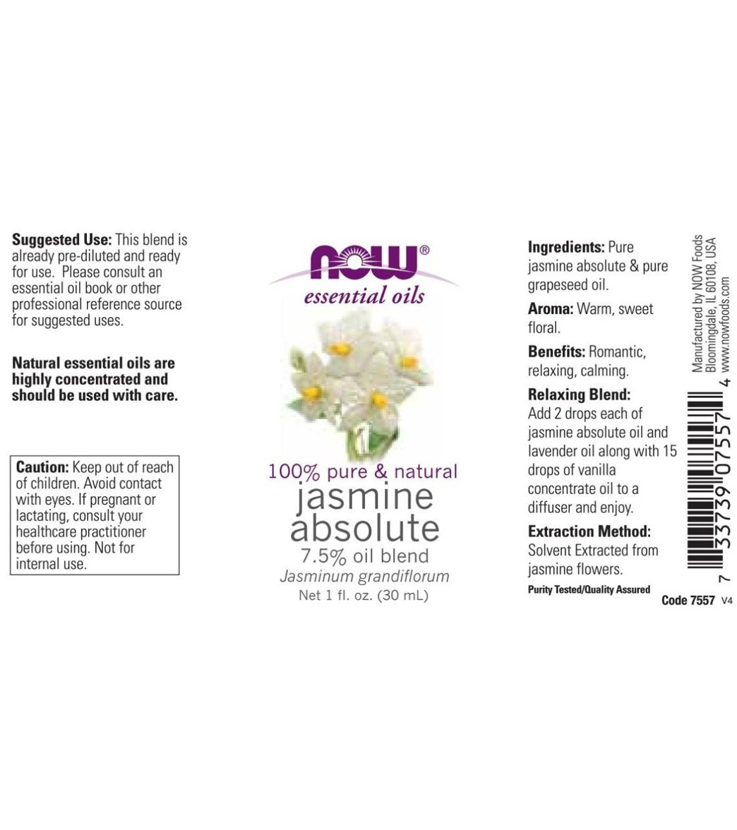 Now 100 pure natural jasmine absolute 75 oil blend 1 oz at loading photo izmirmasajfo