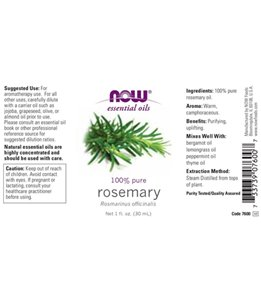 NOW 100% Pure Rosemary Essential Oil 1 oz