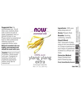 NOW 100% Pure Ylang Ylang Essential Oil 1 oz