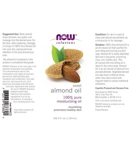 NOW 100% Pure Sweet Almond Oil 4 oz
