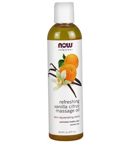NOW Refreshing Vanilla Citrus Massage Oil 8 oz