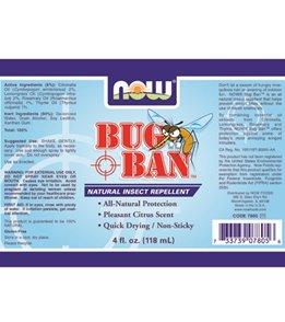NOW Bug Ban Spray 4 oz