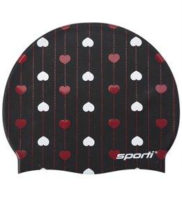 Sporti Love Lines Silicone Swim Cap