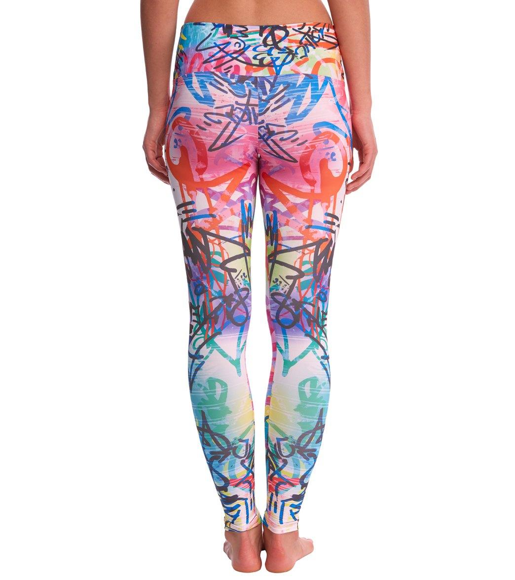 805e38933b297 Om Shanti Clothing Wicked Graffiti Eco Yoga Leggings at YogaOutlet ...