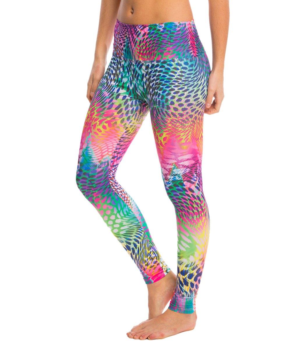 6e52876bc7dd6 Om Shanti Clothing Rainbow Leopard Eco Yoga Leggings at YogaOutlet ...