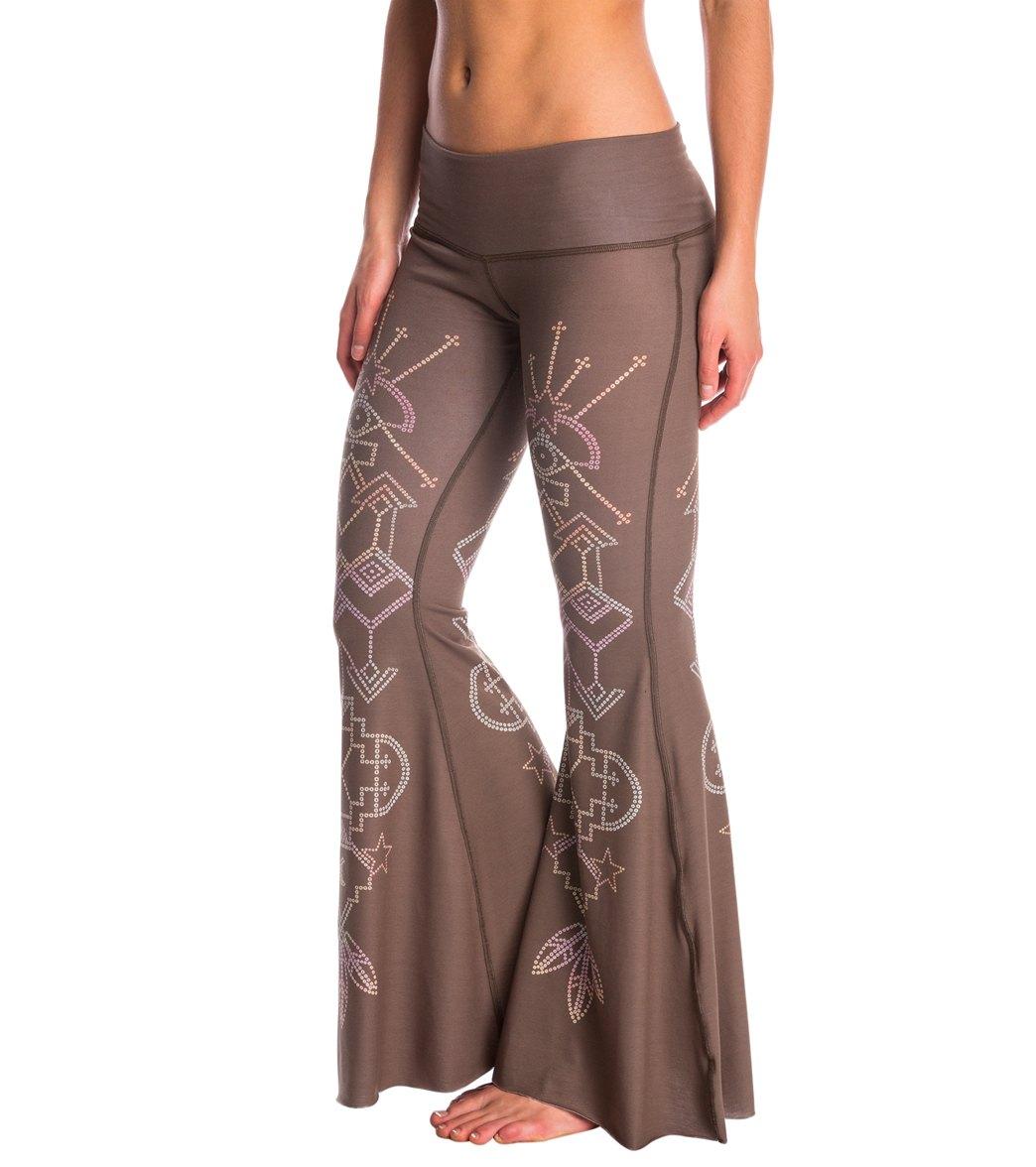 b634447399272d Teeki Seven Crowns Bell Bottom Yoga Pants at YogaOutlet.com - Free ...