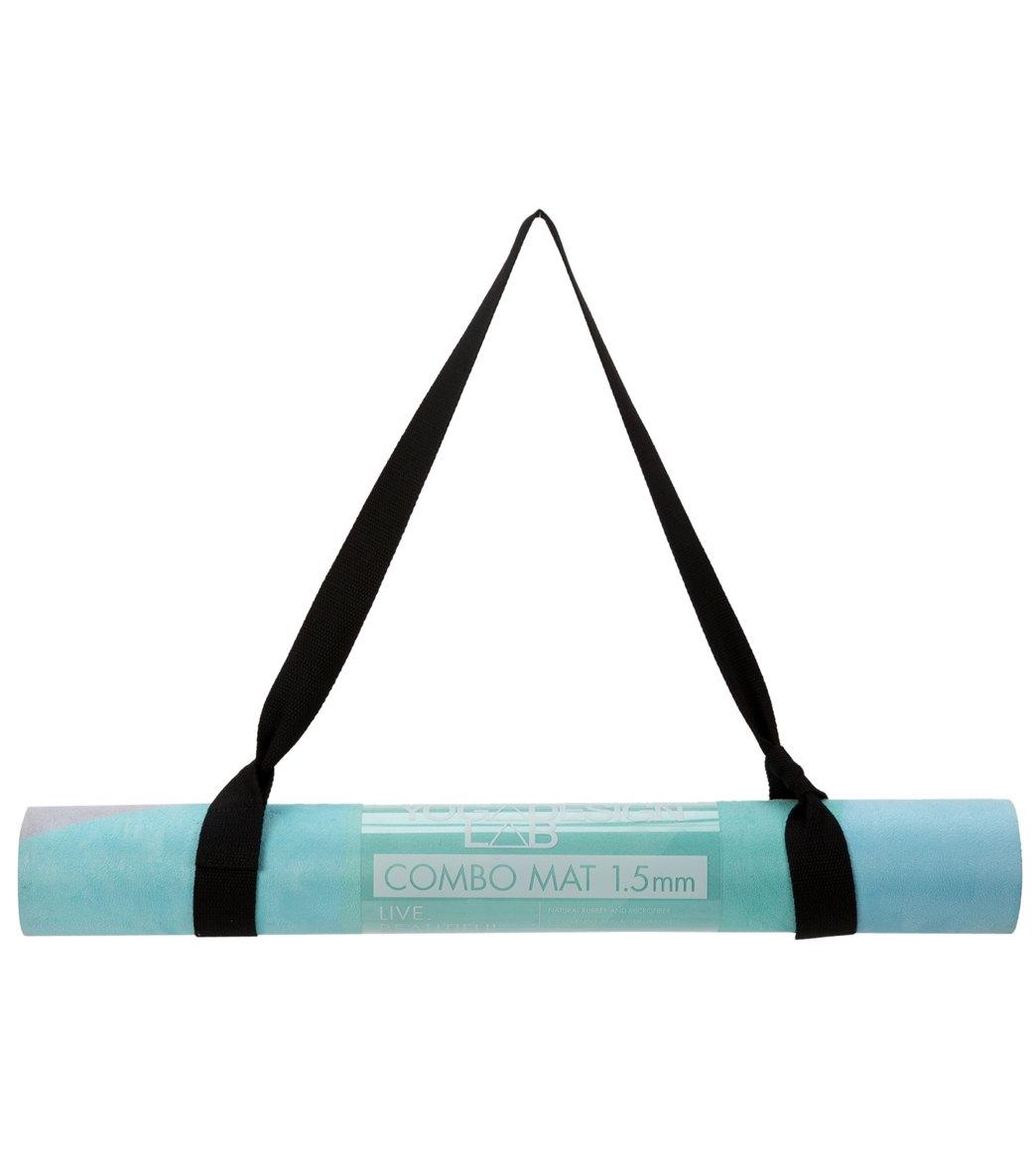 Geo Blue Combo Yoga Mat: Yoga Design Lab Geo Blue Combo Yoga Mat LITE At YogaOutlet
