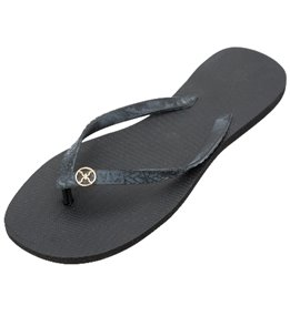 Vix Solid Black Sandal