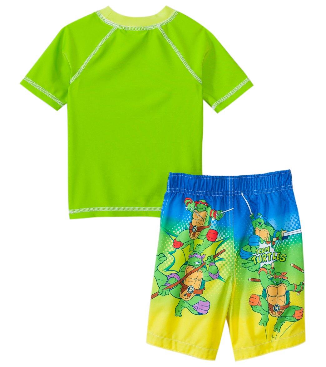 c9b5edccd7 Nickelodeon Boys' Teenage Mutant Ninja Turtles Swim Trunks & Rashguard Set  ...