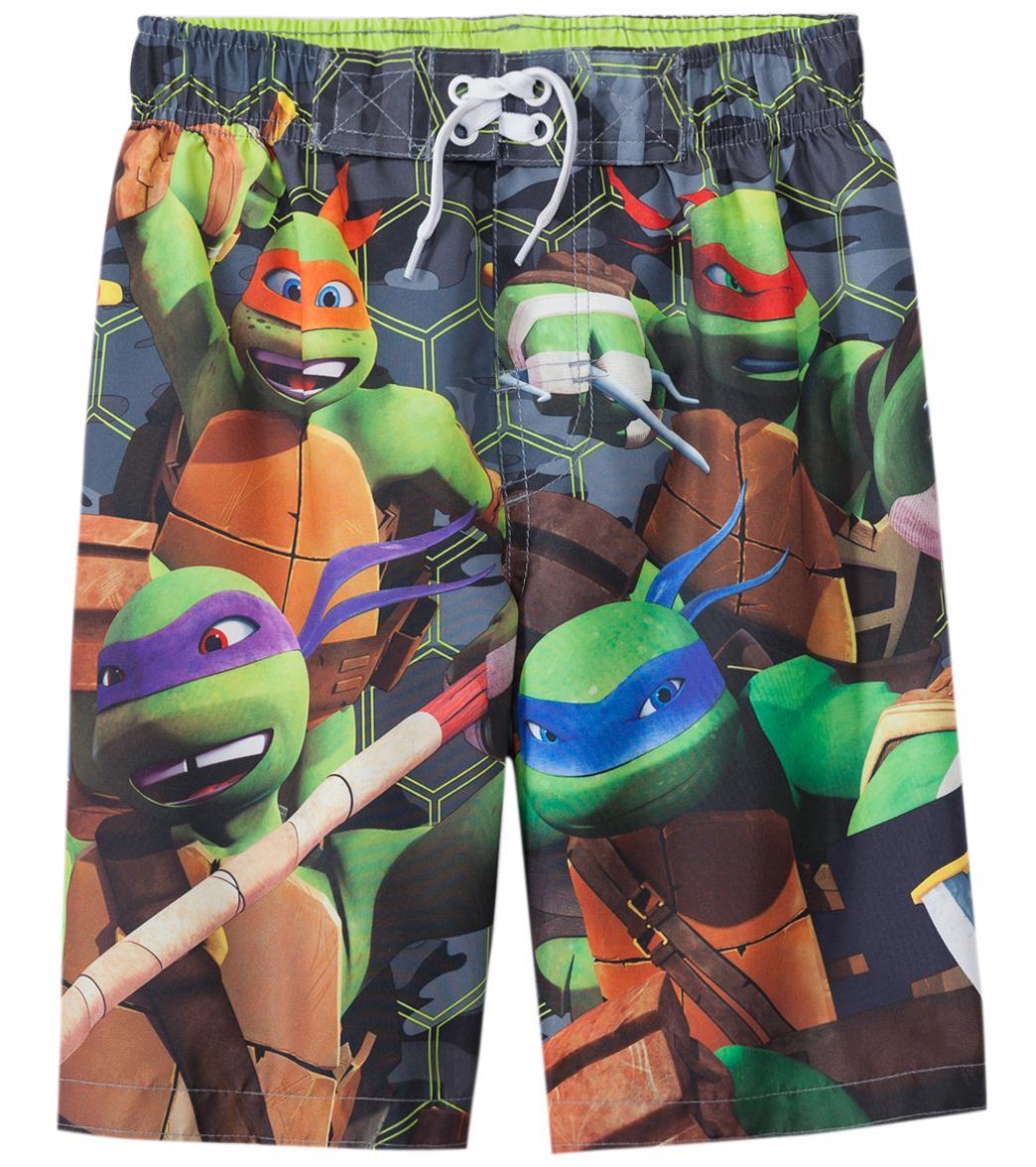 6f5c96ebb0604 Nickelodeon Boys' Teenage Mutant Ninja Turtles Swim Trunks (4-7) at ...