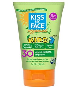 Kiss My Face Organic SPF 30 Kids Natural Mineral Sunscreen, 3.4 oz