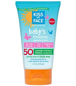 Kiss My Face SPF 50 Baby's First Kiss Sunscreen Lotion, 4 oz