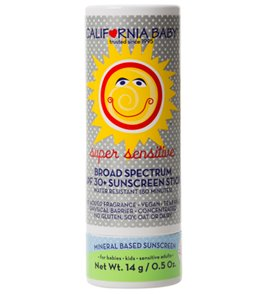 California Baby Super Sensitive Broad Spectrum SPF30+ Sunscreen Stick, no fragrance