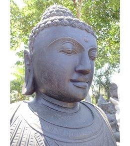 Lotus Sculpture Amitaba Buddha in Dharmachakra Mudra 94
