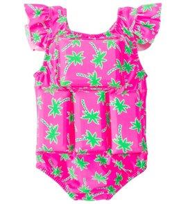 My Pool Pal Girls' Palm Tree Floatation Swimsuit
