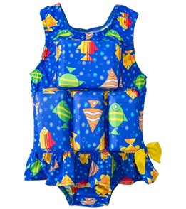 My Pool Pal Girls' Metro Fish Skirted Floatation Swimsuit