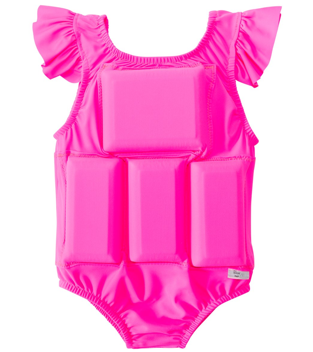 9c0477a0ab My Pool Pal Girls' Hot Pink Princess Floatation Swimsuit at SwimOutlet.com  - Free Shipping