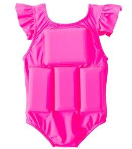 My Pool Pal Girls' Hot Pink Princess Floatation Swimsuit