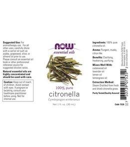 NOW 100% Pure Citronella Oil 1 oz