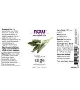 NOW 100% Pure Sage Oil 1 oz