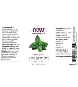 NOW 100% Pure Spearmint Oil 1 oz
