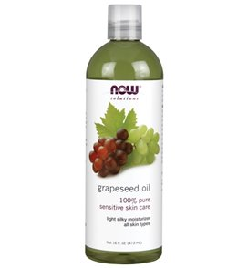 NOW 100% Pure Grapeseed Oil 16 oz