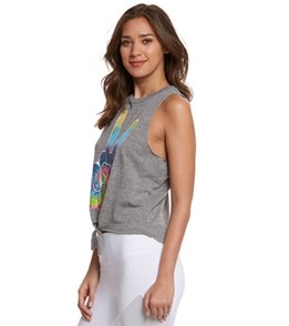 Chaser Peace Fingers Yoga Crop Tank