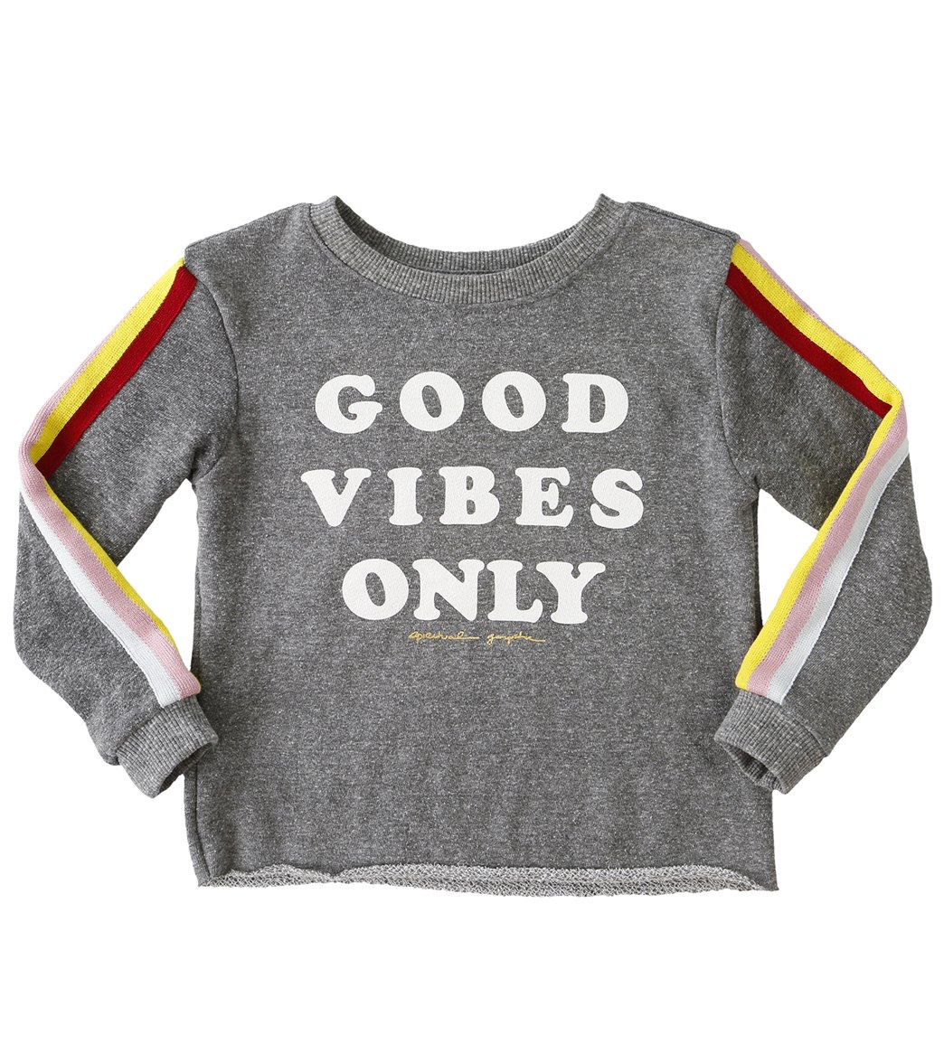0f2d0393dac9d Spiritual Gangster Kids Good Vibes Only Yoga Crop Sweatshirt at  SwimOutlet.com - Free Shipping