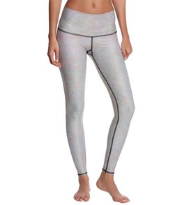 Teeki White Snake Opal Black Thread Hot Yoga Pants