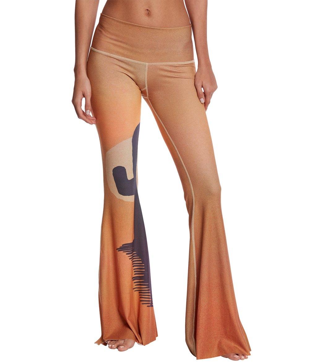 Teeki Coyote Moon Dusk Bell Bottom Yoga Pants- Extra Length at ...