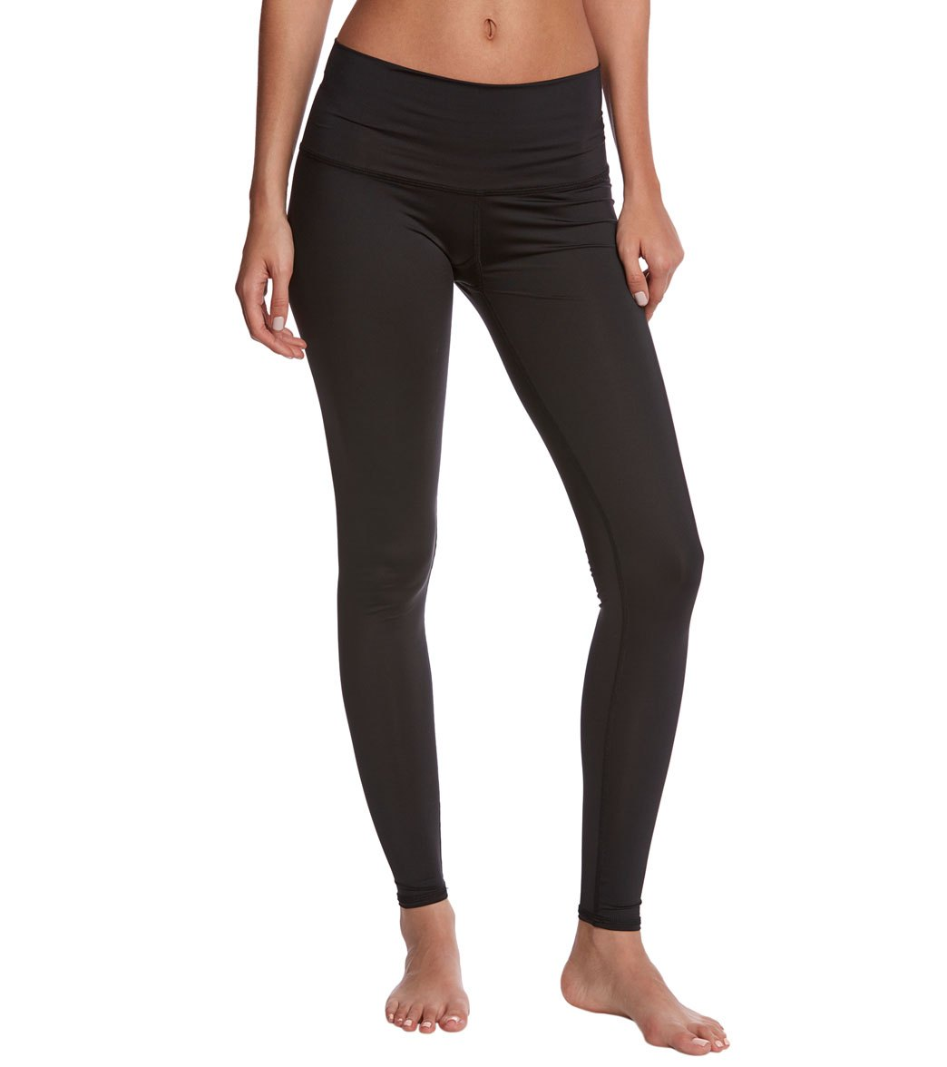 aa01b4fc10c14 Teeki Solid Black Hot Yoga Pants at YogaOutlet.com - Free Shipping