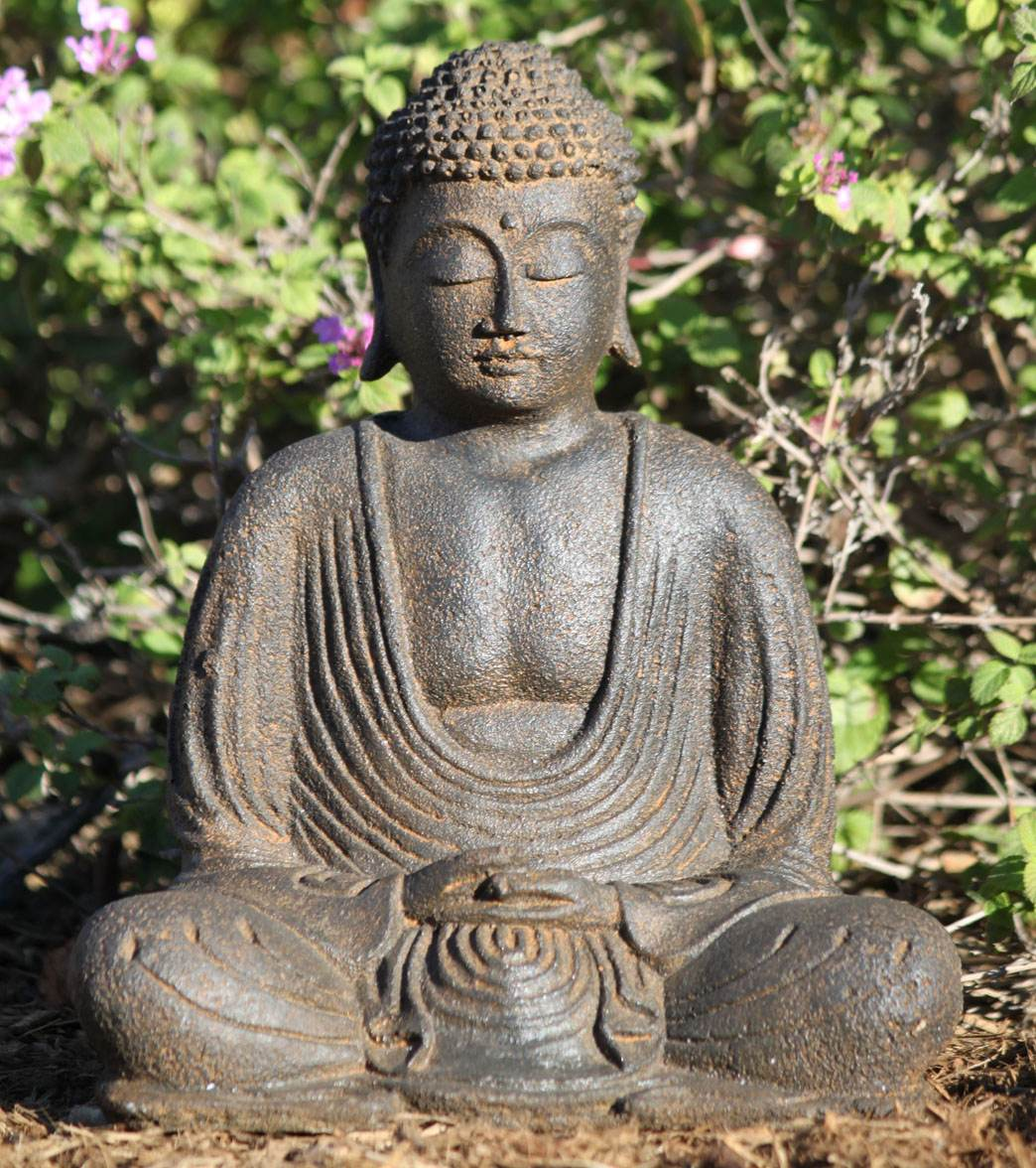 garden buddha. Lotus Sculpture Stone Meditating Garden Buddha Statue 8\