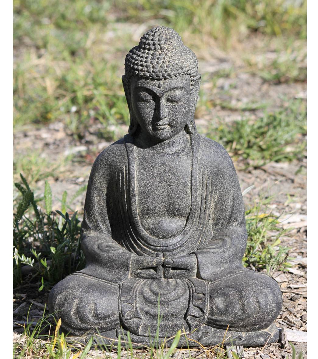 Lotus Sculpture Meditating Garden Buddha Statue 12 At Swimoutlet Com Free Shipping