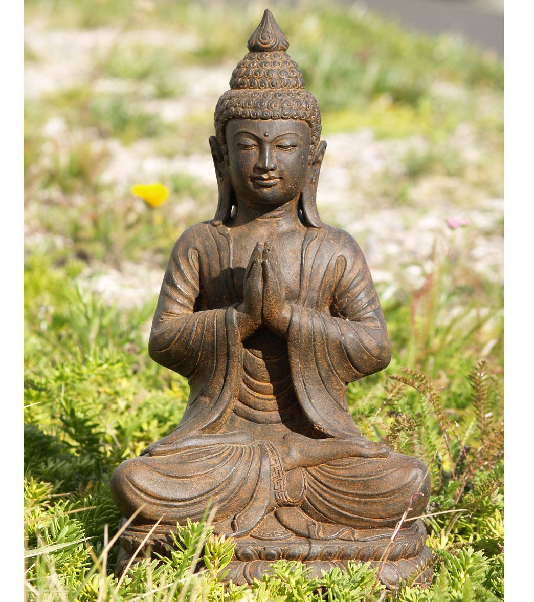 Lotus Sculpture Namaste Garden Buddha Statue 18 At Yogaoutlet