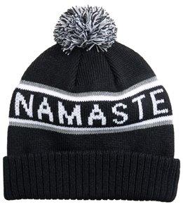 51b9a14e033 Spiritual Gangster Namaste Pom Pom Beanie at YogaOutlet.com
