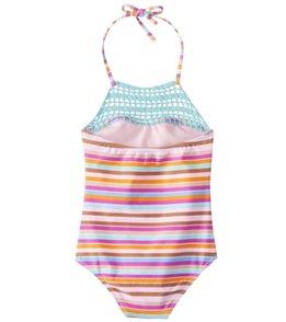 Raisins Girls' Laguna Stripes Blossom One Piece Swimsuit (Little Kid)