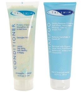 TRISWIM Gift Set of Shampoo, Conditioner & Swim Cap in Mesh Bag