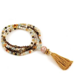 Silver & Sage Finding Balance Mini Mala Bracelet