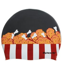 Sporti Fried Chicken Silicone Swim Cap