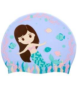 Sporti Mermaid Life Silicone Swim Cap Jr.