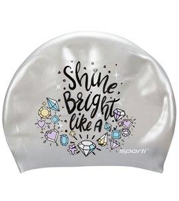Sporti Bright Diamond Long Hair Silicone Swim Cap
