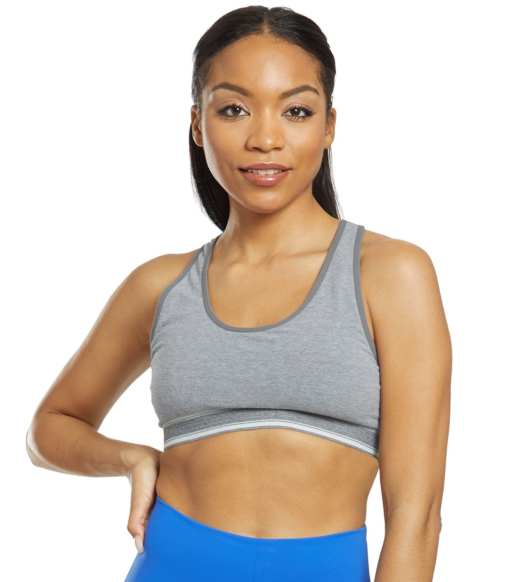c45241f152 Manduka Eko Cotton Racer Back Yoga Sports Bra at YogaOutlet.com