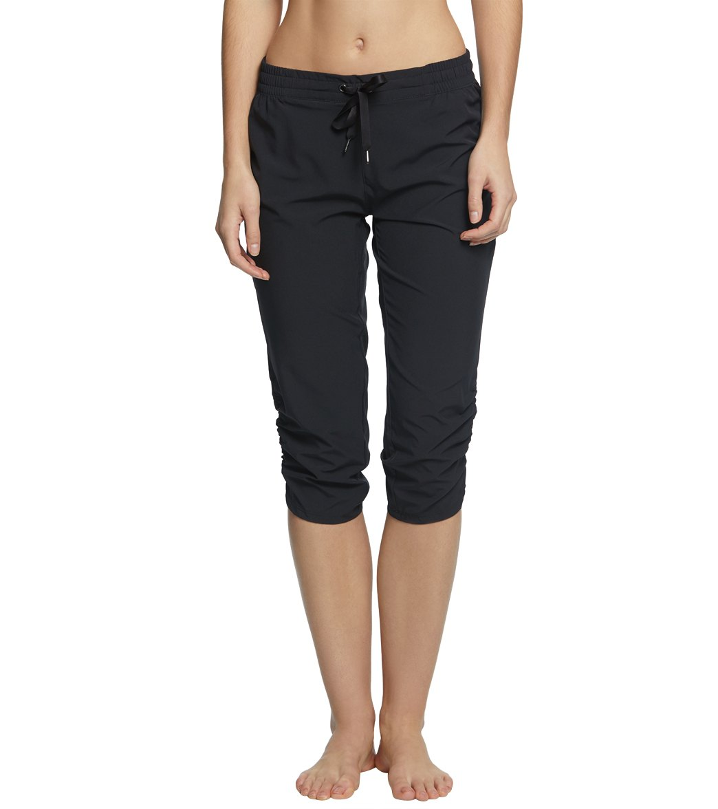 51091acee5b0 Marika Stretch Woven Yoga Capris at YogaOutlet.com - Free Shipping