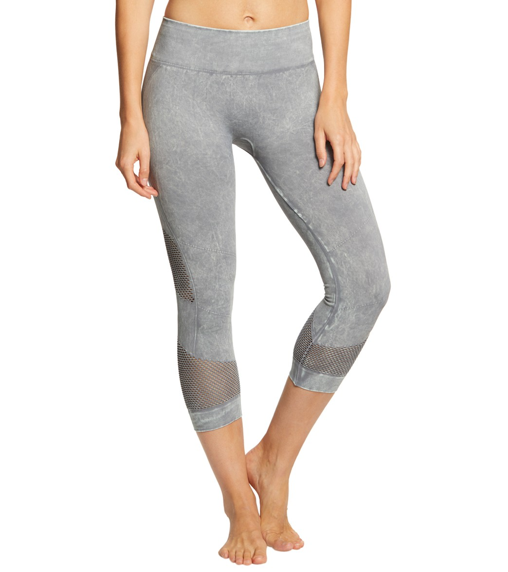 5c358cadca12a NUX Network Mineral Wash Seamless Yoga Capris at YogaOutlet.com - Free  Shipping