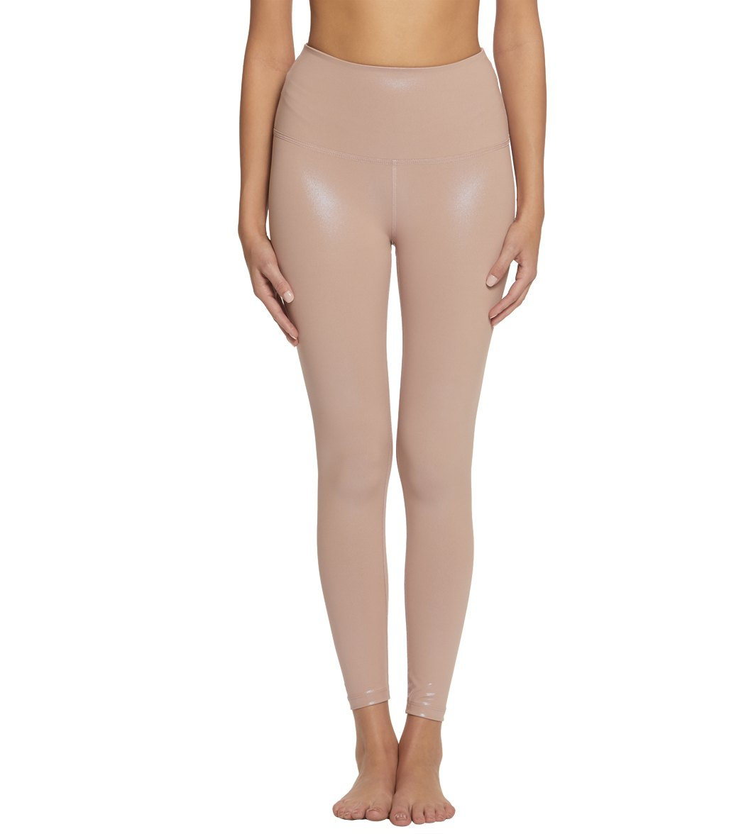 93ca5bc900dc8 Beyond Yoga Pearlized High Waisted 7/8 Yoga Leggings at YogaOutlet.com -  Free Shipping