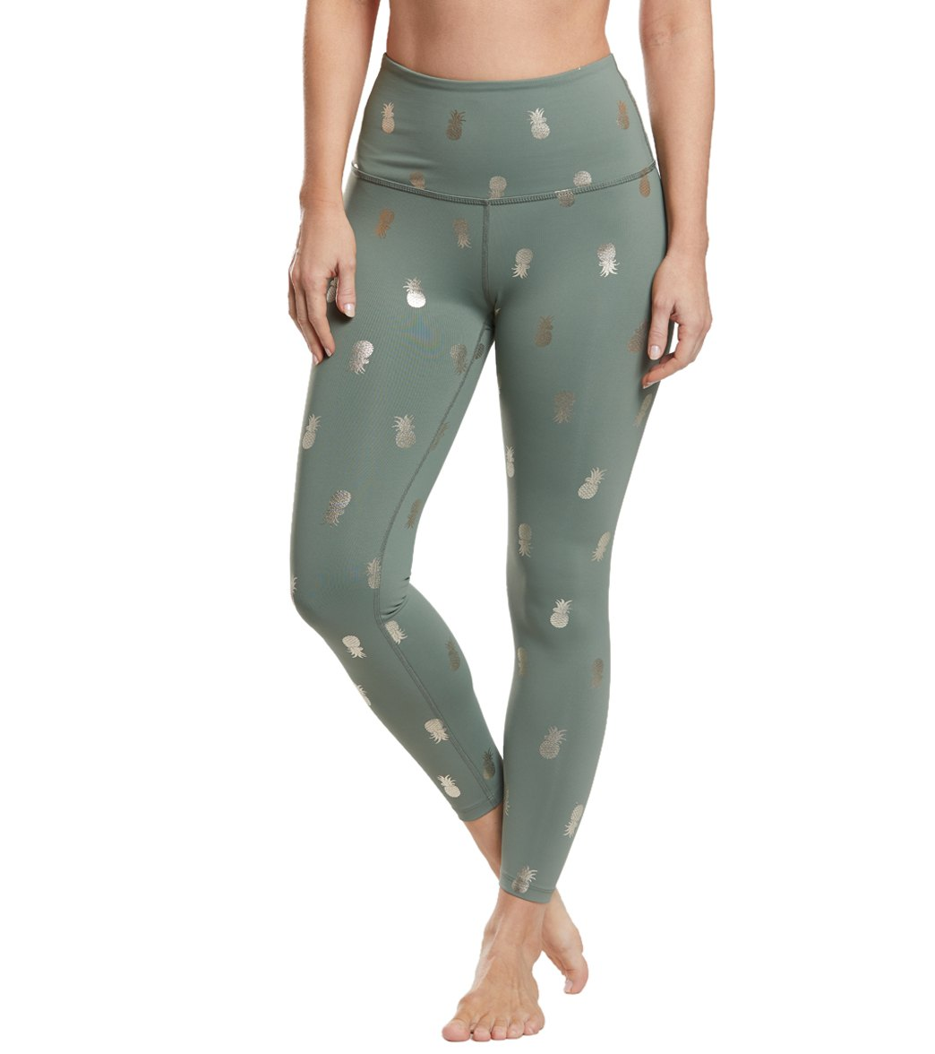 56a980bd2371f2 Beyond Yoga Pineapple High Waisted 7/8 Yoga Leggings at YogaOutlet.com - Free  Shipping
