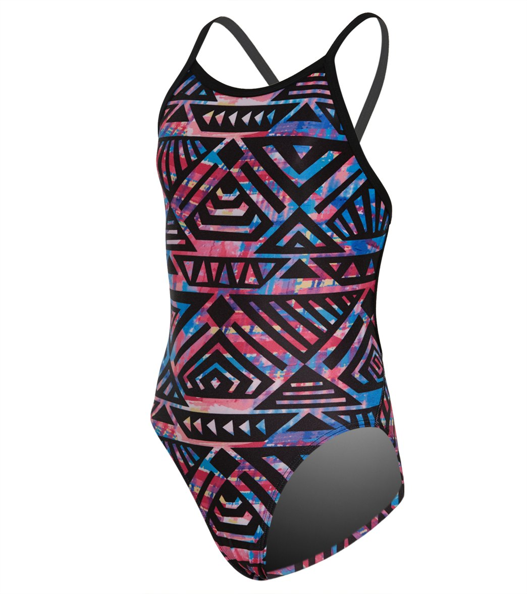 ebd18c162e Amanzi Girls' Tiki Princess One Piece Swimsuit at SwimOutlet.com - Free  Shipping